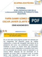 Tutorial Manejo Portafolio Wiki
