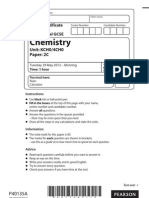 Edexcel IGCSE May 2012 Chemistry Paper- 2