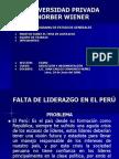 FALTA DE LIDERAZGO EN EL PERÚ