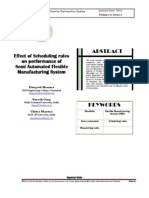Effect of Scheduling Rules on Performance of Semi Automated Flexible Manufacturing System