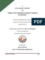 Impact of Chinese Goods on Indian Economy