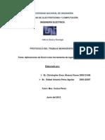 Monografia de Aplicaciones de excel como herramienta de ingeniería eléctrica