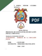 Fundamentos Teoricos de Educacion Inicial I