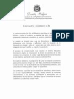 Mensaje del presidente Medina a los maestros y maestras en su día