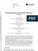 Role of Process Control Agents on Milling Behavior of Al and TiO