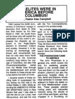Alan Campbell Israelites Were In America Before Columbus!