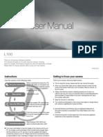 Samsung Camera L100 User Manual
