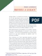 Anderson, Entrevista a Lukacs