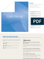 Samsung Camera NV9 User Manual
