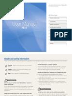 Samsung Camera PL10 User Manual