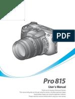 Samsung Camera PRO815 User Manual