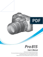 Samsung Camera PRO815 User Manual