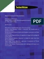 Sociocriticism XXI 2 2006