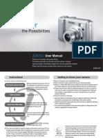 Samsung Camera S830 User Manual