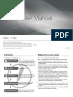 Samsung Camera S860 / S760 User Manual