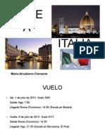 Viaje a Italia Maria Alc