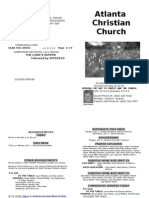 June 30, 2013 Church Bulletin