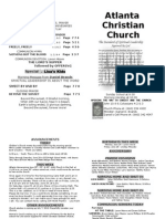 June 23, 2013 Church Bulletin