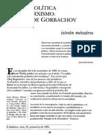Iztván Mészáros, Ética y política en el marxismo. El caso de Gorbachov