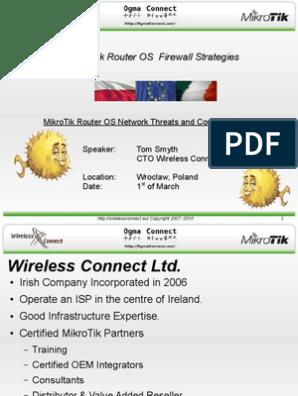 MikroTik Router OS Firewall Strategies | Proxy Server