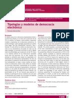 Tipologías y modelos de democracia electrónica