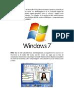 Windows 7 es una versión de Microsoft Windows