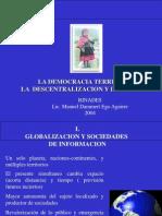 Democracia Territorial, La Descentralizacion y Las Ciudades Dammert