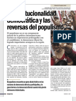 La Institucionalidad Democrática y las Reversas del Populismo