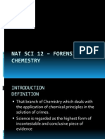 1 NAT SCI 12 – FORENSIC CHEMISTRY