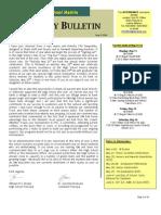 HS Friday Bulletin 05.08.09