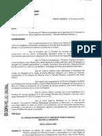 Resolución  Honorable Consejo Deliberante de la Ciudad de Puert