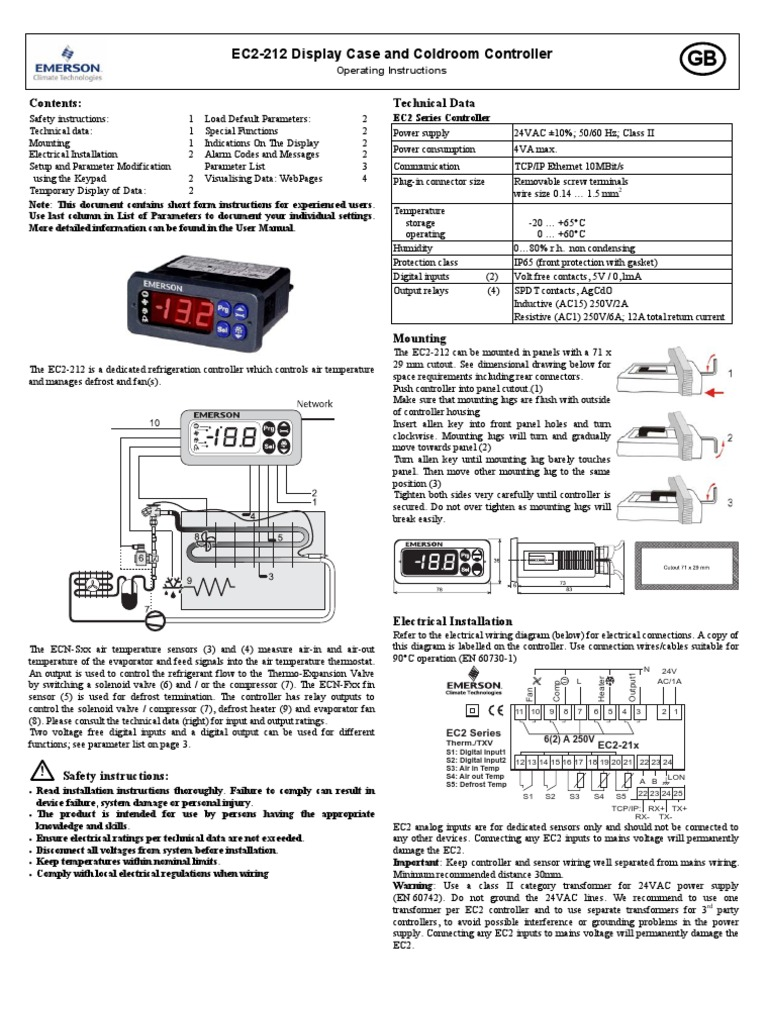 EC2-212 Display Case and Coldroom Controller   Ip Address   Transmission  Control Protocol