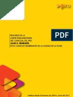 Resumen Legislativo 12/2009 al 5/2013 - Cjal Julio Irurueta