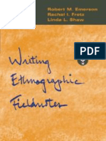 Writing Ethnographic Fieldnotes Robert m Emerson Paperback Cover Art