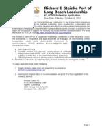 2012 Richard Steinke POLB Application