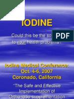Iodine and Cancer