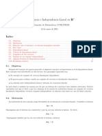 Dependencia Lineal