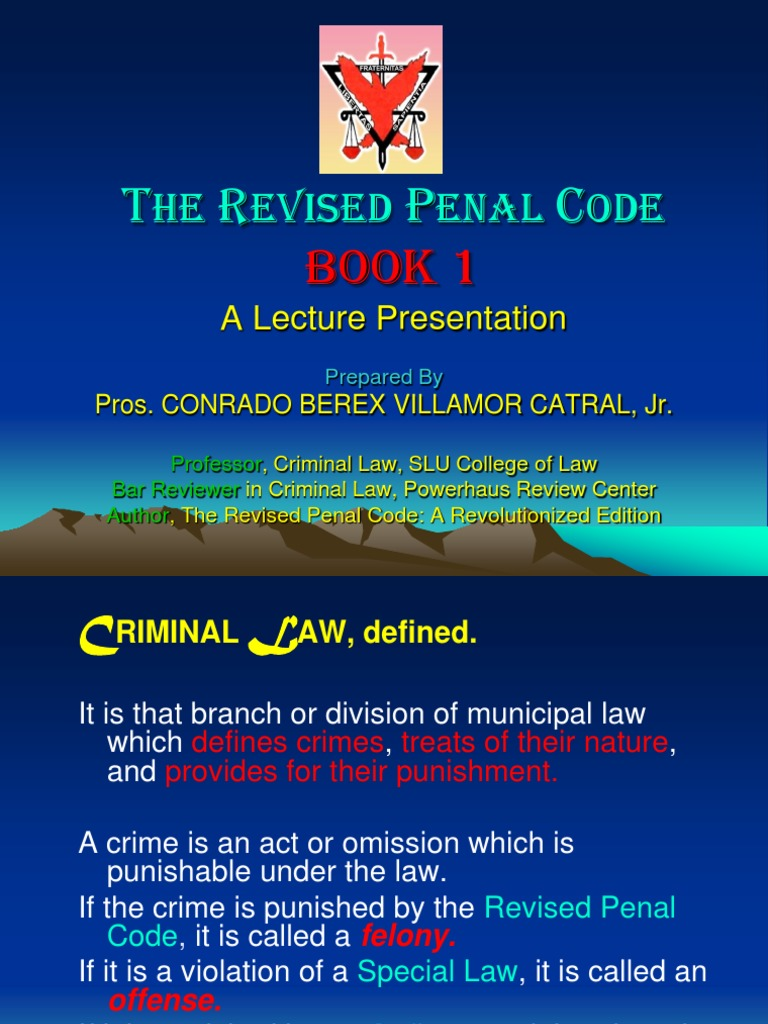 Download: Revised Penal Code Of The Philippines Book pdf