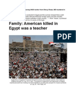 Young Jewish NGO Worker From Chevy Chase, MD Murdered in Alexandria, Egypt