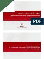 Continuidad Negocio ISO 22301