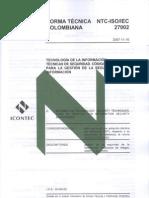 Normas ISO 27002
