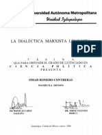 LA DIALÉCTICA MARXISTA LENINISTA