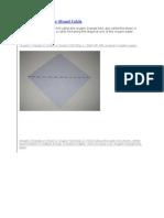 Triangle or Shawl Folds