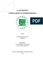 case report cephalopelvic disporpotion