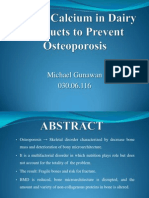 Effects Calcium to Prevent Osteoporosis 2003