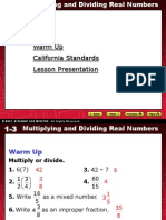 1.3. Multiplying & Dividing Real Number