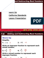 1.2. Adding and Subtracting Real Numbers