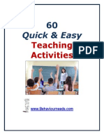 60 Quick and Easy Teaching Activities
