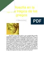 Nietzsche, Friedrich - La filosofía en la época trágica de los griegos