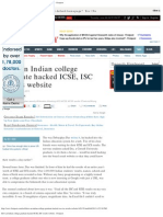 How an Indian College Graduate Hacked ICSE, IsC Results Website - Firstpost